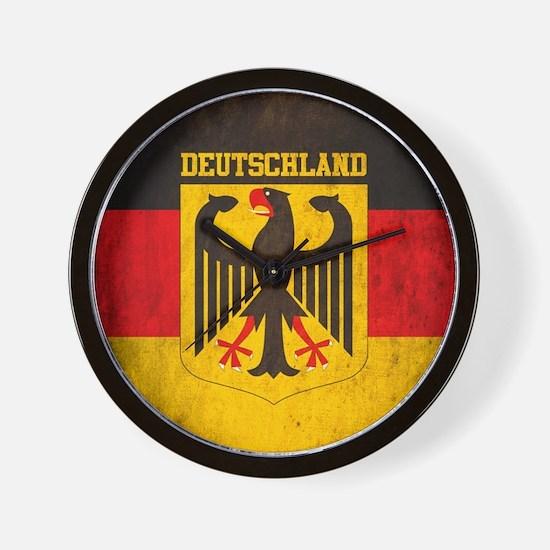 Grunge Germany Flag Wall Clock