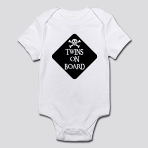 WARNING: TWINS ON BOARD Infant Creeper