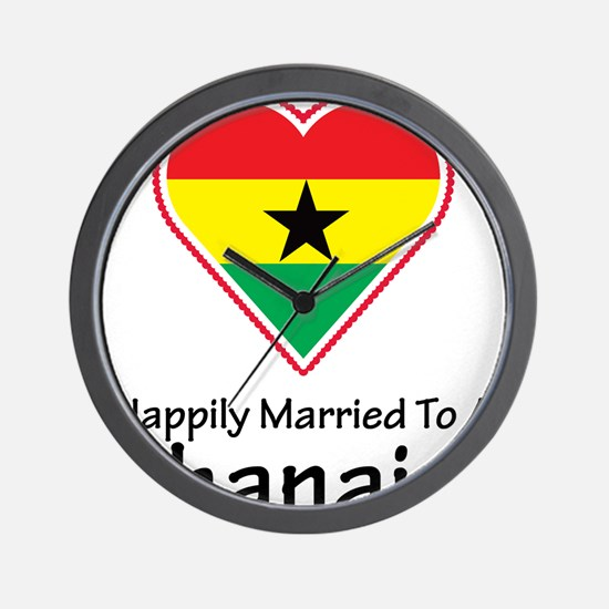 Happily Married Ghanaian Wall Clock