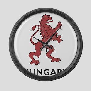 Hungary Lion Large Wall Clock