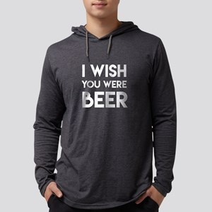 I WISH YOU WERE BEER Mens Hooded Shirt