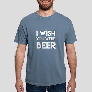 I WISH YOU WERE BEER Mens Comfort Colors Shirt