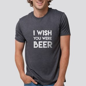 I WISH YOU WERE BEER Mens Tri-blend T-Shirt
