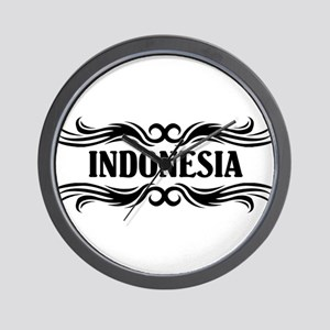 Tribal Indonesia Wall Clock