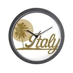 Palm Tree Italy Wall Clock