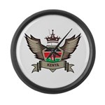 Kenya Emblem Large Wall Clock