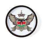 Kenya Emblem Wall Clock