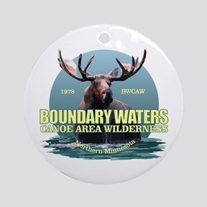 Boundary Waters Round Ornament