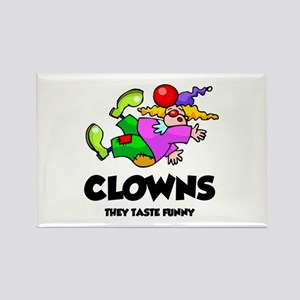 Clowns Taste Funny Rectangle Magnet