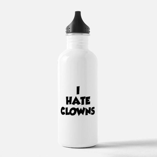 I Hate Clowns Water Bottle