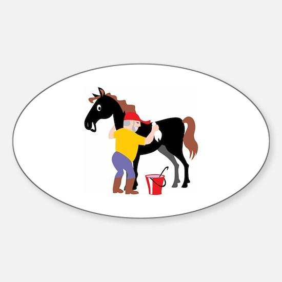 Horse Sticker (Oval)