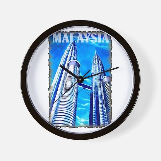 Malaysia Twin Towers Wall Clock