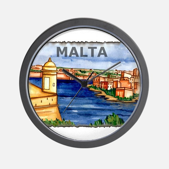 Vintage Malta Art Wall Clock