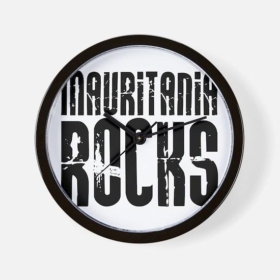Mauritania Rocks Wall Clock