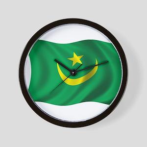 Wavy Mauritania Flag Wall Clock