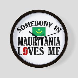 Somebody In Mauritania Wall Clock