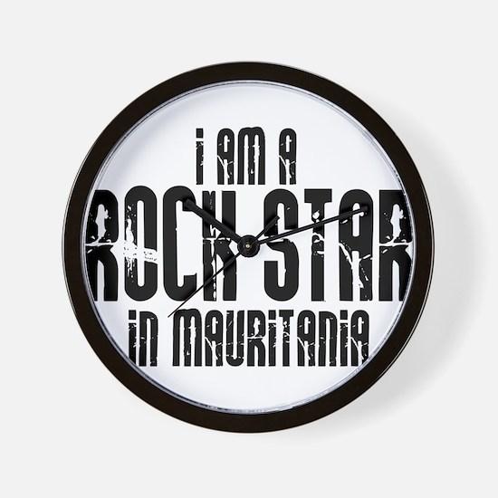 Rock Star In Mauritania Wall Clock