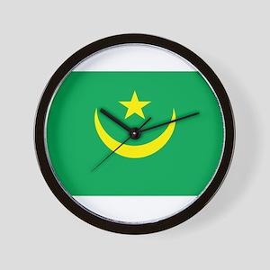 Mauritania Flag Wall Clock