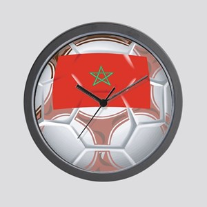 Morocco Soccer Wall Clock