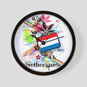 Flower Netherlands Wall Clock