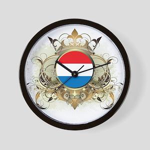 Stylish Netherlands Wall Clock