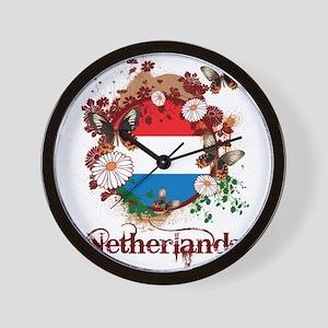 Butterfly Netherlands Wall Clock