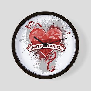 Heart Netherlands Wall Clock