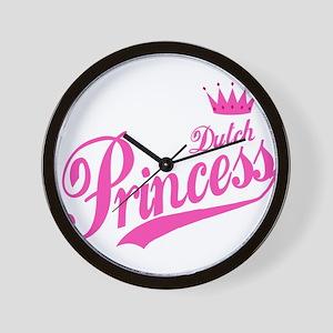 Dutch Princess Wall Clock