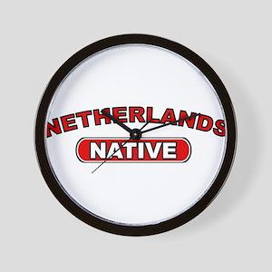 Netherlands Native Wall Clock