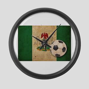 Vintage Nigeria Football Large Wall Clock