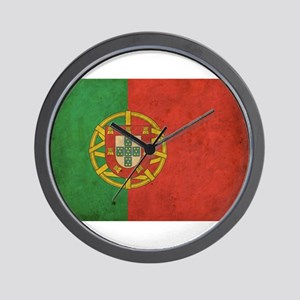 Vintage Portugal Flag Wall Clock