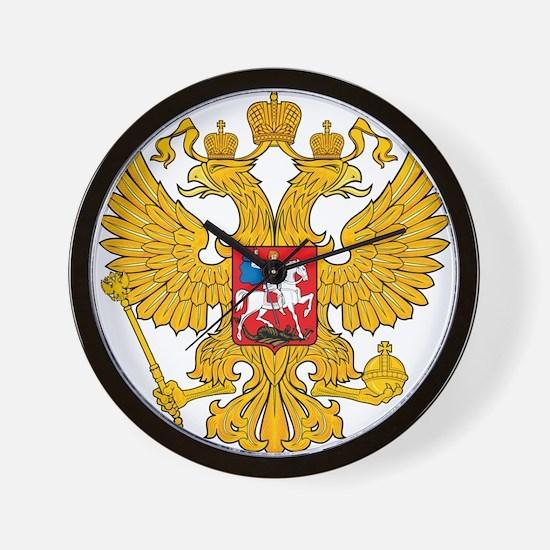 Russia 2 Headed Eagle Wall Clock