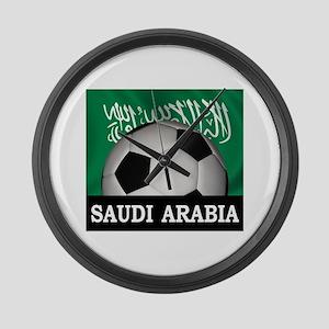 Football Saudi Arabia Large Wall Clock