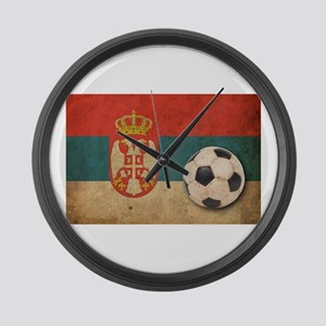 Vintage Serbia Football Large Wall Clock