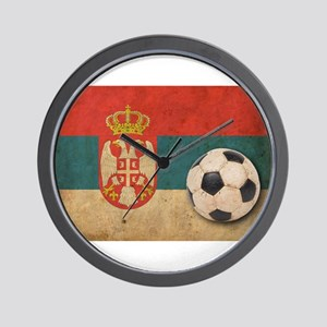 Vintage Serbia Football Wall Clock