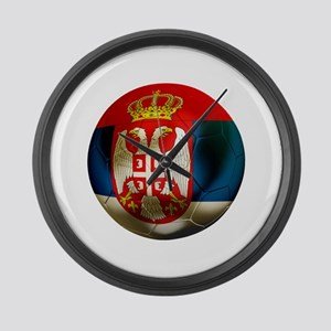 Serbia Football Large Wall Clock