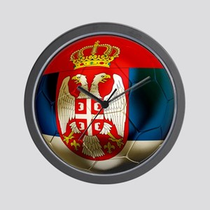 Serbia Football Wall Clock