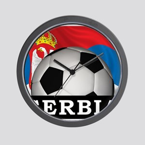 Football Serbia Wall Clock