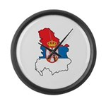 Map Of Serbia Large Wall Clock