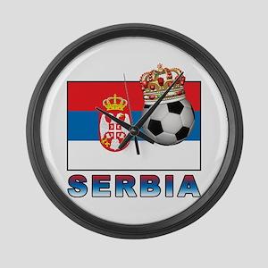 Serbia Football Large Wall Clock