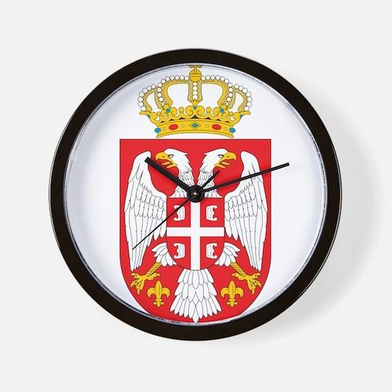 Serbia Coat Of Arms Wall Clock
