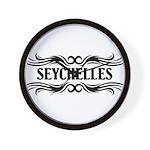 Tribal Seychelles Wall Clock