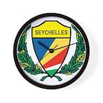 Stylized Seychelles Wall Clock