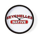 Seychelles Native Wall Clock