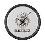 Vintage Seychelles Large Wall Clock