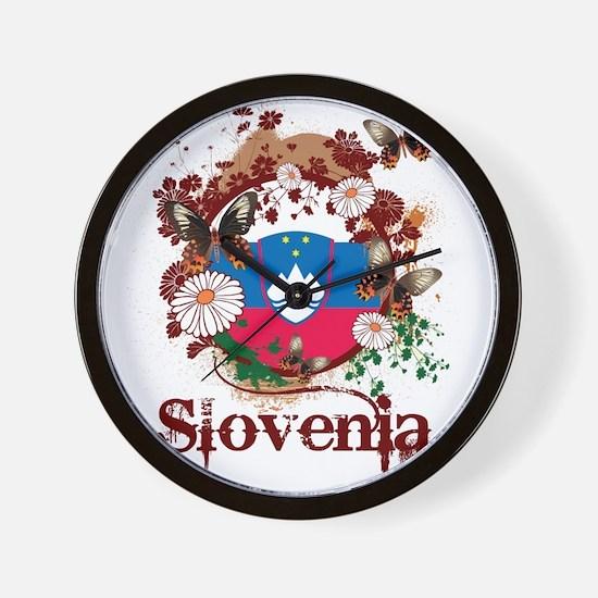 Butterfly Slovenia Wall Clock