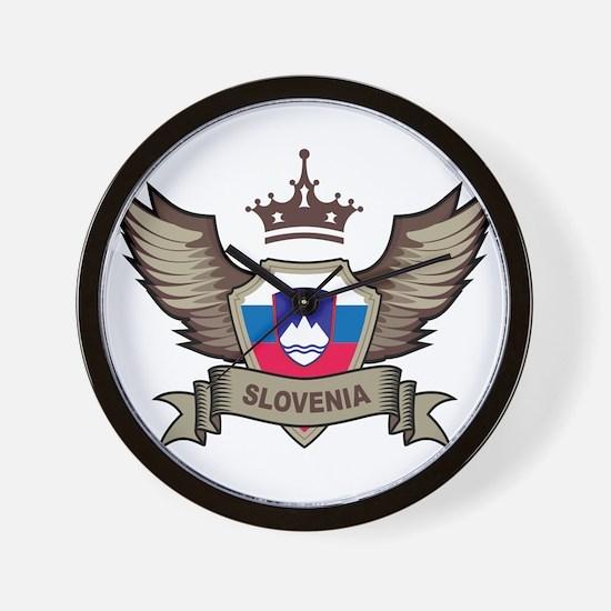 Slovenia Emblem Wall Clock
