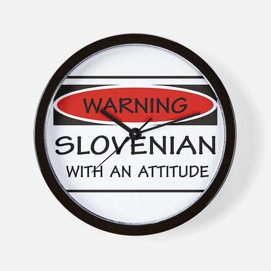 Attitude Slovenian Wall Clock