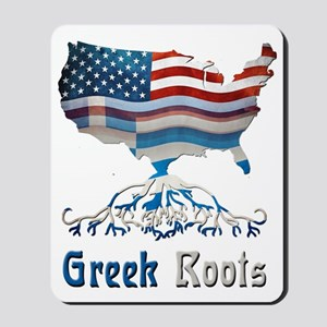 American Greek Roots Mousepad