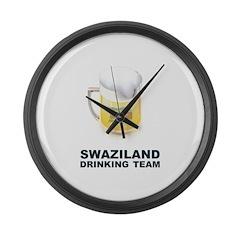 Swaziland Drinking Team Large Wall Clock